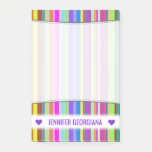 [ Thumbnail: Personalized Name; Stripes of Various Colors Notes ]