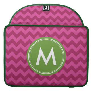Personalized Name Stylish Purple Chevron Monogram Sleeve For MacBook Pro