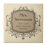 Personalized Name Teacher Classroom Sign Plaque Tiles