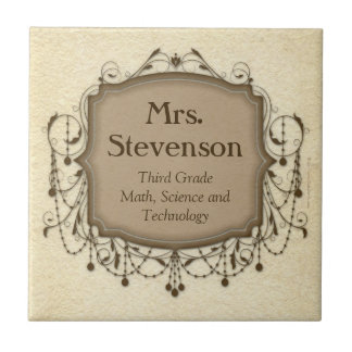 Personalized Name Teacher Classroom Sign Plaque Tile