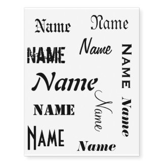 Personalized Name Temporary Tattoos