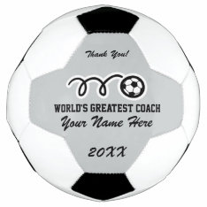 Personalized Name Thank You Coach Soccer Ball at Zazzle