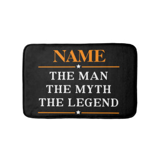 Personalized Name The Man The Myth The Legend Bathroom Mat