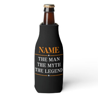 Personalized Name The Man The Myth The Legend Bottle Cooler