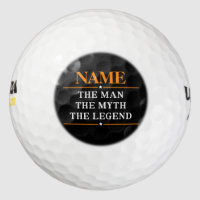 Personalized Name The Man The Myth The Legend Golf Balls