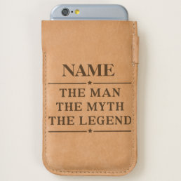 Personalized Name The Man The Myth The Legend iPhone 6/6S Case