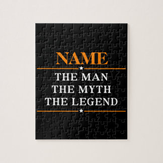 Personalized Name The Man The Myth The Legend Jigsaw Puzzle