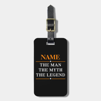 Personalized Name The Man The Myth The Legend Luggage Tag