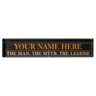 Personalized Name The Man The Myth The Legend Name Plate