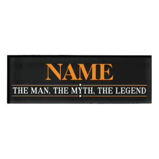 Personalized Name The Man The Myth The Legend Name Tag