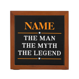 Personalized Name The Man The Myth The Legend Pencil Holder