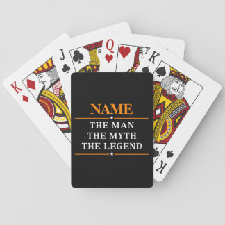 Personalized Name The Man The Myth The Legend Playing Cards