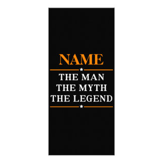 Personalized Name The Man The Myth The Legend Rack Card