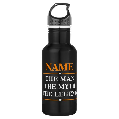 Personalized Name The Man The Myth The Legend Stainless Steel Water Bottle