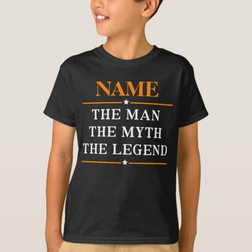 Personalized Name The Man The Myth The Legend T_Shirt