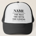 """Personalized Name The Man The Myth The Legend Trucker Hat<br><div class=""""desc"""">Personalized Name The Man The Myth The Legend</div>"""