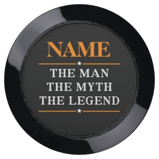 Personalized Name The Man The Myth The Legend USB Charging Station