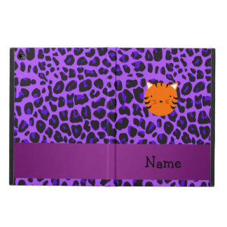 Personalized name tiger face purple leopard print powis iPad air 2 case