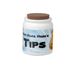 Personalized Name Tips Jar Candy Dish at Zazzle