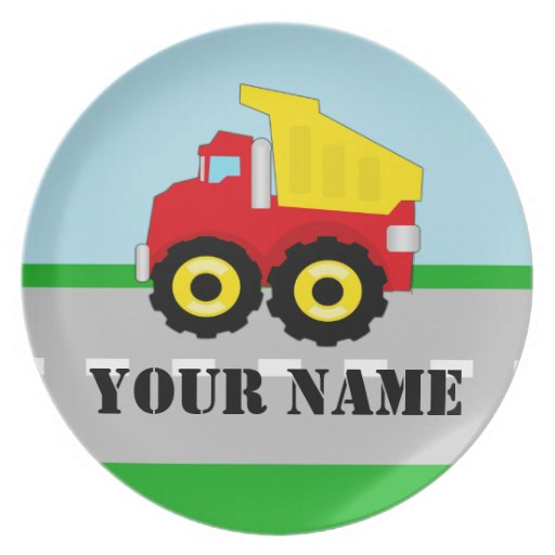 Personalized Name Truck Kids Plate