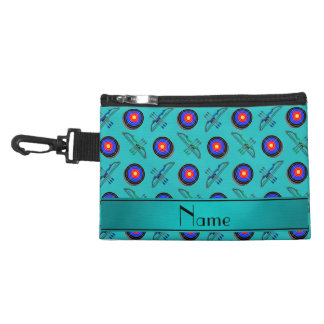 Personalized name turquoise archery accessory bag