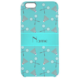 Personalized name turquoise badminton uncommon clearly™ deflector iPhone 6 plus case