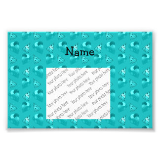 Personalized name turquoise birthday pattern photo