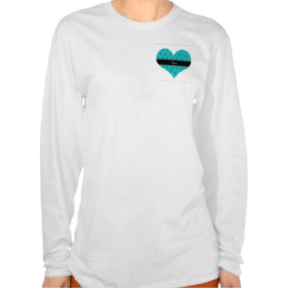 Personalized name turquoise cheerleader pattern tee shirt