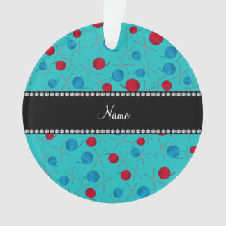 Personalized name turquoise crochet pattern