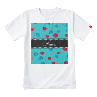 Personalized name turquoise crochet pattern zazzle HEART T-Shirt