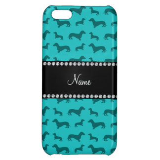 Personalized name turquoise dachshunds iPhone 5C cover