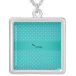 Personalized name turquoise diamonds jewelry