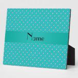 Personalized name turquoise diamonds plaque