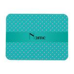 Personalized name turquoise diamonds rectangular magnets