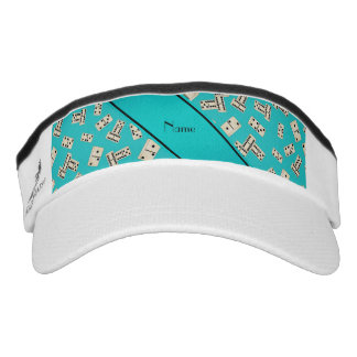 Personalized name turquoise dominos visor