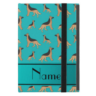 Personalized name turquoise German Shepherd dogs iPad Mini Covers