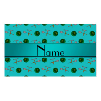 Personalized name turquoise gold mining Double-Sided standard business cards (Pack of 100)
