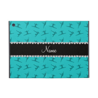 Personalized name turquoise gymnastics pattern cover for iPad mini