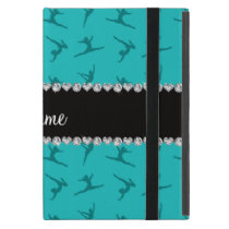 Personalized name turquoise gymnastics pattern iPad mini case