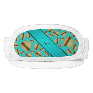 Personalized name turquoise hamburger pattern visor