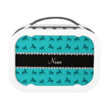 Personalized name turquoise horse pattern replacement plate