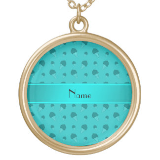 Personalized name turquoise ice cream pattern custom jewelry