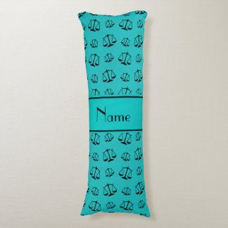 Personalized name turquoise justice scales body pillow