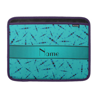 Personalized name turquoise kayaks sleeve for MacBook air