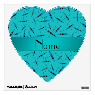 Personalized name turquoise kayaks wall stickers