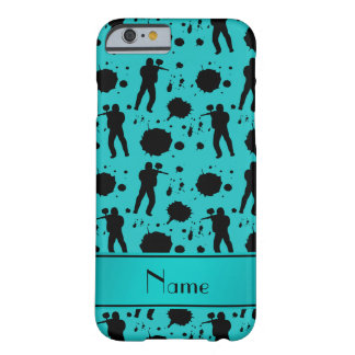 Personalized name turquoise paintball pattern barely there iPhone 6 case