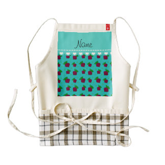 Personalized name turquoise red beets zazzle HEART apron
