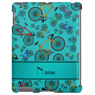 Personalized name turquoise road bikes