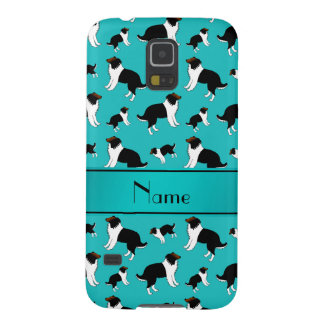 Personalized name turquoise Shetland Sheepdogs Galaxy S5 Case