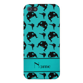 Personalized name turquoise sumo wrestling iPhone SE/5/5s case